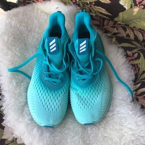 Adidas bounce running shoes 10M ombré turquoise